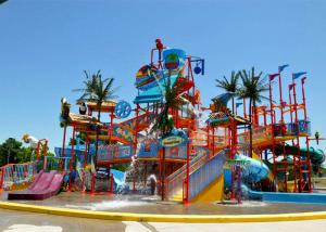 China Holiday Resort Water Play Equipment Commercial FRP For Parent - Child on sale