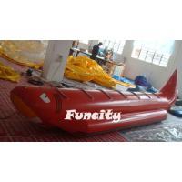 0.9 PVC Tarpaulin Cartoon Inflatable Banana Boat For Kids And Adults