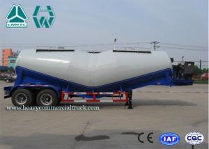 China 27Cbm 2 Axles V Shape Bulk Cement Tank Semi Trailer With Air Compressor on sale