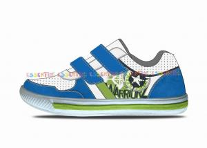 China Low Cup Toddler Velcro Tennis Shoes Printed Canvas And Glitter Finish Fabric Surface on sale