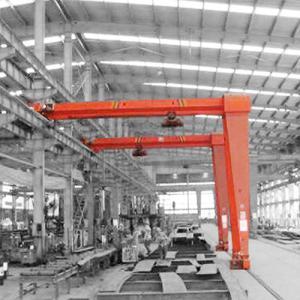 China Single Girder Overhead Travelling Crane / 5T 10T Mini Semi Gantry Crane on sale