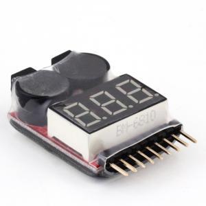China 2 IN 1 Tester Low Voltage Buzzer Alarm FO TIUS 1 - 8S Lipo / Li - ion / Fe Battery Voltage on sale