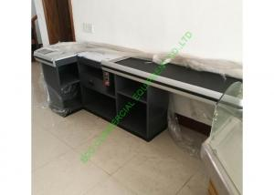China Unique Design Cash Register Checkout Counter With Motor Belt For Supermarket on sale