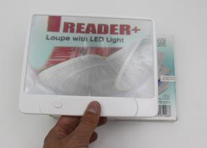 China Panel LED Book Reading Lamp With 3X Magnifier / Full Page Magnifier Light on sale