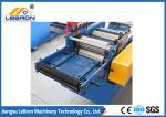 Blue color  High strength smooth straight door frame cold roll forming machine automatic type PLC system control