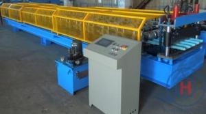 China 0.25 - 0.6mm Roof Tile / Roof Panel RollFormer Machine With Hydraulic Cutting 4Kw on sale