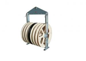 China Five Nylon Wheels Diameter 916mm Bundled Conductor Pulley For Overhead Line on sale