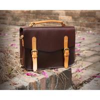 LH-62-3 Handmade Handbags Vintage Briefcase Genuine Leather Ladies Bags