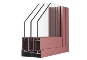China Powder Painted Aluminum Window Extrusion Profiles For Sliding Window With 6063 T5 on sale