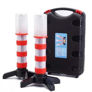 China Emergency Road Flares Red Roadside Beacon Safety Strobe Light Warning Signal Alert Magnetic Base and Upright Stand on sale