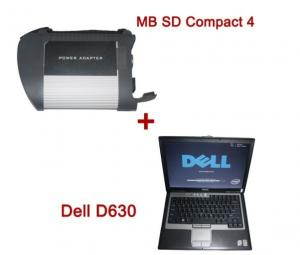 China MB SD Connect Compact 4 Mercedes Diagnostic Tool For Benz with Dell D630 Laptop on sale