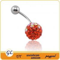 crystal body jewelry belly button ring