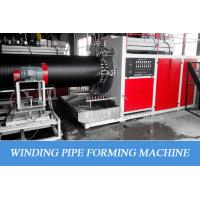 Hdpe Hollow Wall Winding Plastic Pipe Production Line For Big Diameter Water Supply