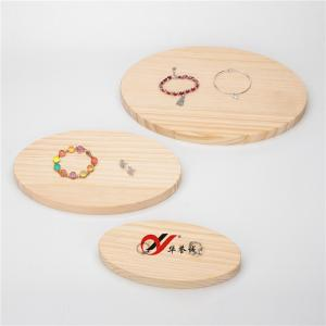 China 3 Pieces Oval Shape Wood Jewelry Display Plate / Bangle Holder Stand on sale