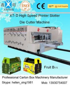 Quality 4 Color Offset Flexo Printer Slotter Machine for Corrugated Box Printing for sale