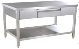 China Detachable 2 - Tier Stainless Steel Work Table , Stainless Steel Food Prep Table on sale