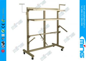 China Heavy Duty Metal Clothes Rack in Chrome , Double Upright Clothing Rack on sale