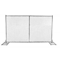 Temporary Chain Link Fence With PVC or HDPE Slats