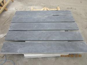 China Honed Blue Limestone Floor Tiles , Natural Stone Kitchen Wall Tiles 2800 Kg/M3 on sale