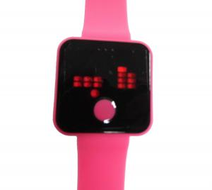 China Anti-shock LED Touch Screen Silicone Wristband Watches Japan Lithium Battery on sale
