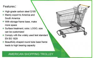 China American Supermarket Trolley Design Quality Grocery Shopping Cart Trolley on sale