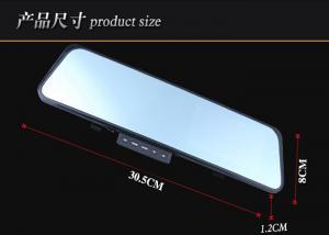 China Dual Camera Mirror Car Dvr Rear Camera 720p Dual-Core Allwinner F20 on sale