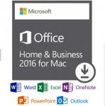 Online Activation Microsoft Office 2016 Retail Box Home And Business For Mac 1 User