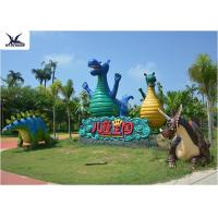 Customized Life Size Fiberglass Statues Handmade For Zoo Exhibition / Water Park