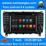 China Ouchuangbo Mercedes Benz w209 w219 audio DVD gps stereo android 4.4 supoort cabus MP3 wholesale