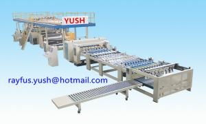 China Flute Type 1100mm Single Facer Corrugated Machine on sale