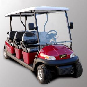 China Park 6 Seater Golf Cart Electric Sightseeing Car With 3.7kw KDS Motor on sale