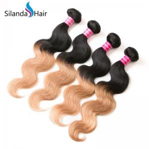 China #1B-27 Ombre Body Wave Brazilian Human Hair Weaves Hair Weft on sale