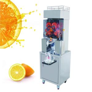 China 370W CE Stainless Steel Automatic Orange Juicer Machine For coffee house 450 x 450 x 600mm supplier
