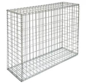 China Durable Welded Gabion Box , Silver Retaining Wall Cages Quick Installation on sale