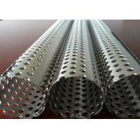 China Round Hole Stainless Steel Perforated Sheet Perforated Pipe Tube For Filter Cylinder on sale