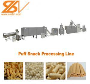 China High Efficiency Corn Puff Making Machine Puffed Soybean Snack Machine Processing Line on sale