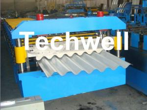 China Galvanised Corrugated Roll Forming Machine With Coil Width 762 / 914 / 1000 / 1220mm wholesale