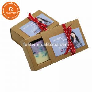 China Eco Friendly Custom Printing Soap Paper Box , Kraft Paper Soap Boxes on sale