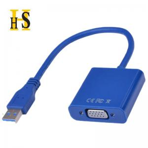 China High quality USB3.0 TO VGA Adapter White Blue Black Color USB VGA Display Cable Adapter For CRT/LCD/Monitor/Projector on sale