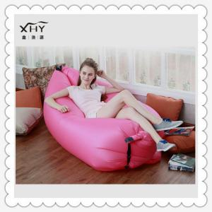 China wholesale custom printed lamzac hangout sofa bed inflatable sleeping bag on sale