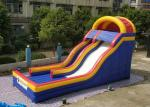 0.55mm PVC Tarpaulin Colorful Large Inflatable Dry Slide For Kids / Blow Up Water Slide