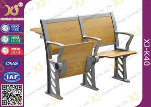 China Folded Three Person College Desk And Chair Set For Student on sale