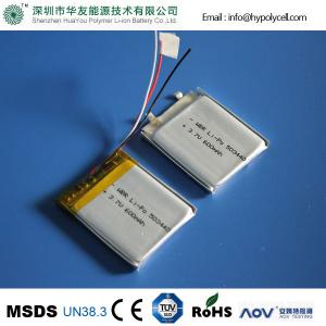 China Pet GPS Tracker Battery 3.7V 600mah HYP503440 Lithium Polymer Battery on sale