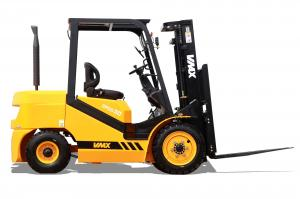 China Yellow 3 Ton Diesel Forklift Warehouse Lift Truck 1070mm Fork Length on sale