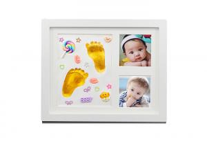 China 9×11'' Baby Hand And Footprint Photo Frame With Decorations / Paint Color on sale