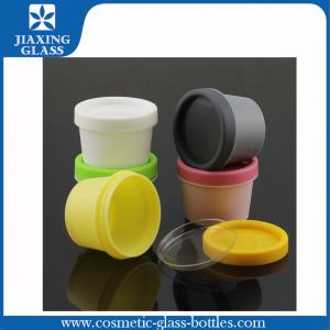 China Pet Yellow Plastic Cosmetic Bottles / Jars / Containers For Creams on sale