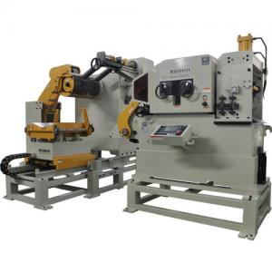 China Punch CNC Metal Coil Leveling Feeder Decoiler Straightener Vertical Unwinding Machine on sale