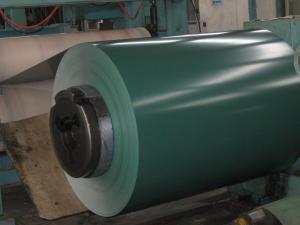 China Bobine en acier enduite d'une première couche de peinture par feuille ridée par couleur pour le gisement de matériau de construction on sale