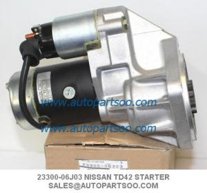 China 23300-06J00 23300-06J03 STARTER MOTOR NISSAN PATROL 4.2 TD42 S13-118 S13-118A on sale