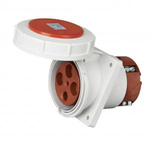 China 4 Pins 63A Industrial Plug Sockets Rated IP44 IEC 60309 2 Certification on sale